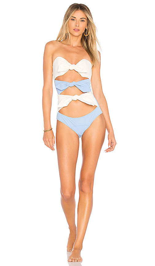 Lisa Marie Fernandez Triple Poppy One Piece in Blue. - size L (also in M,S,XS)