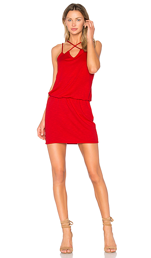 Lanston Cross Front Dress in Red