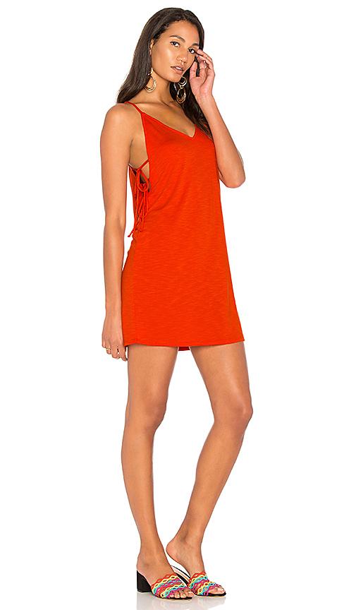 Lanston Side Tie Dress in Orange
