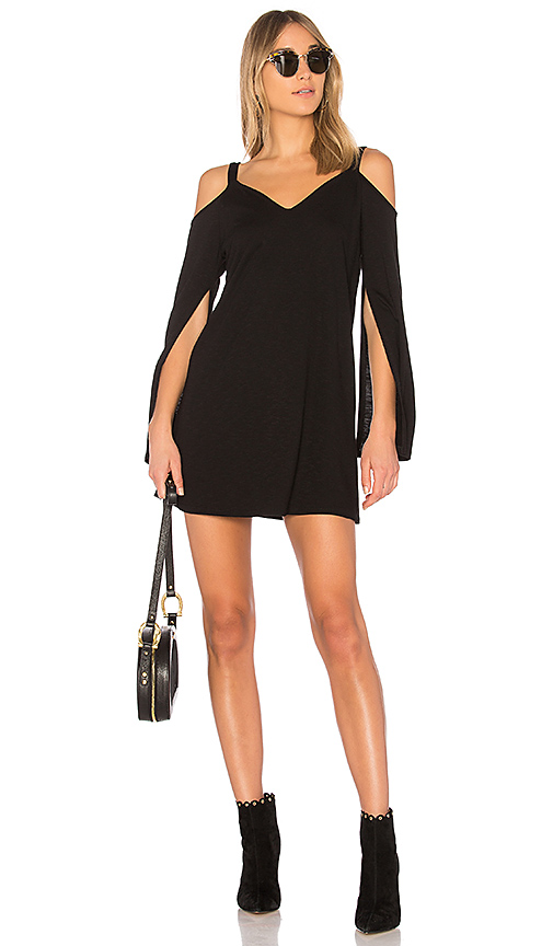 Lanston Split Sleeve Dress in Black