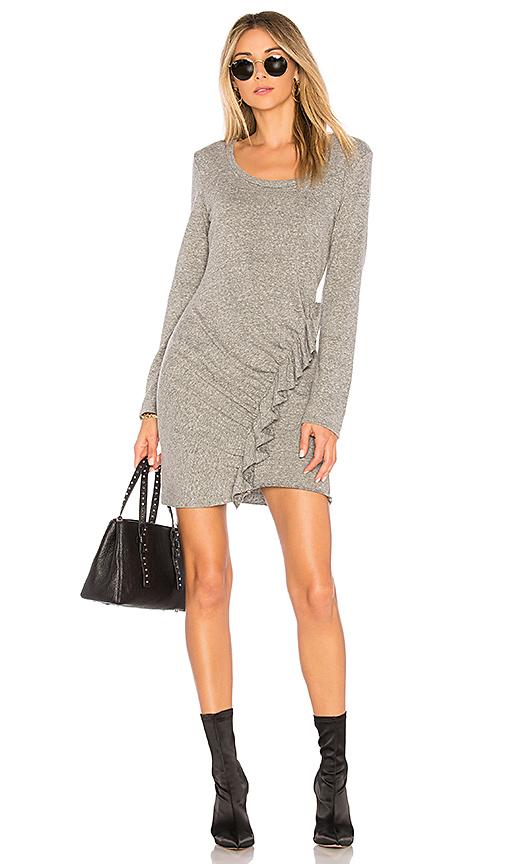 Lanston Ruffle Front Dress in Gray