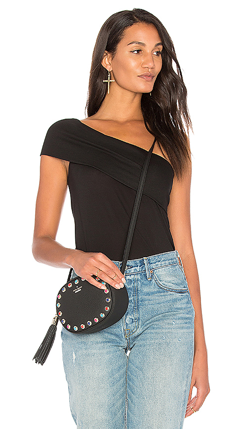 Lanston Bardot Top in Black