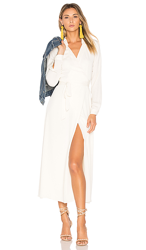 L'Academie The Wrap Dress in White. - size S (also in XS)