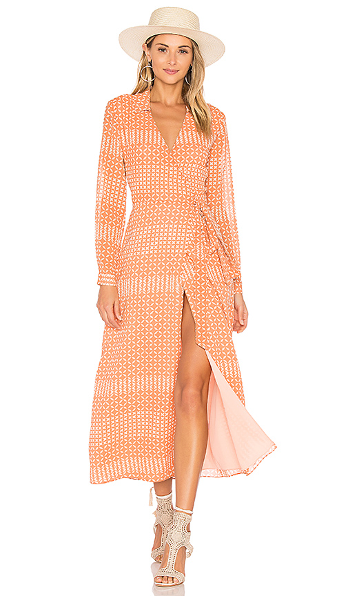 L'Academie The Wrap Dress in Pink. - size L (also in M)