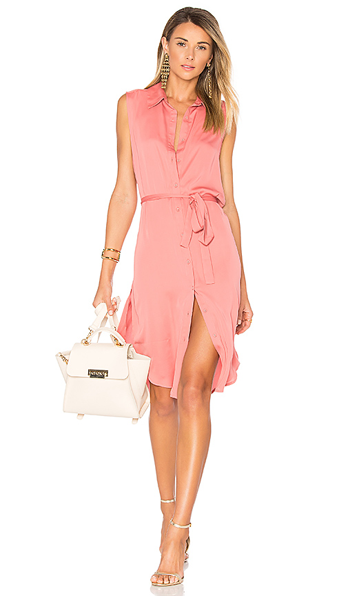 L'Academie The Sleeveless Midi Dress in Rose