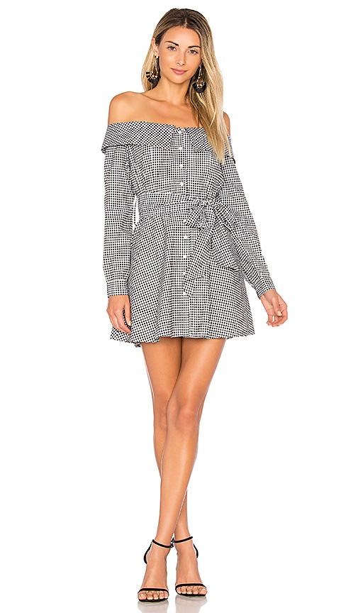 L'Academie x REVOLVE Jann Button Up Dress in Black & White