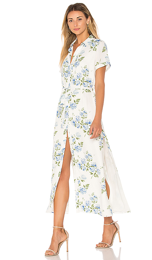 L'Academie The Shirt Dress in White