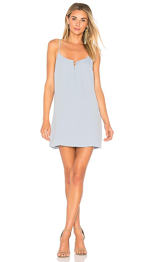 L'Academie The Mini Slip Dress in Baby Blue