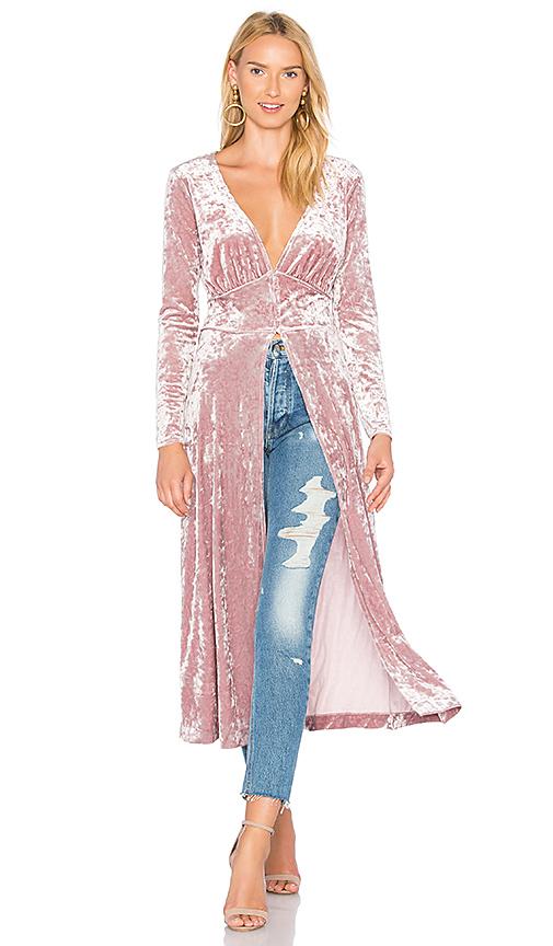 L'Academie X REVOLVE The Amelia Maxi Coat in Pink