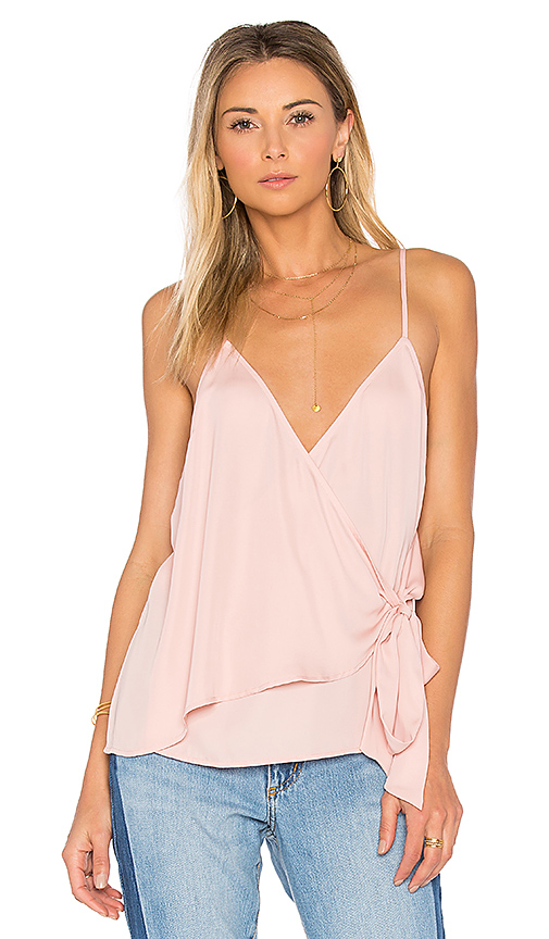 L'Academie The Wrap Cami in Pink
