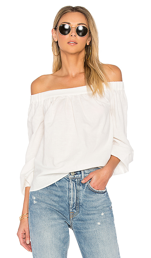 L'Academie The Romantic Blouse in White