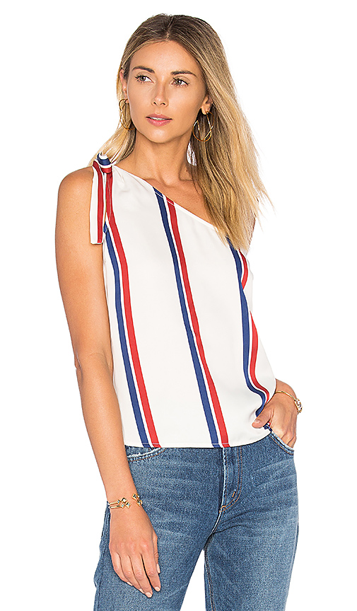 L'Academie x REVOLVE The Tied One Shoulder in White