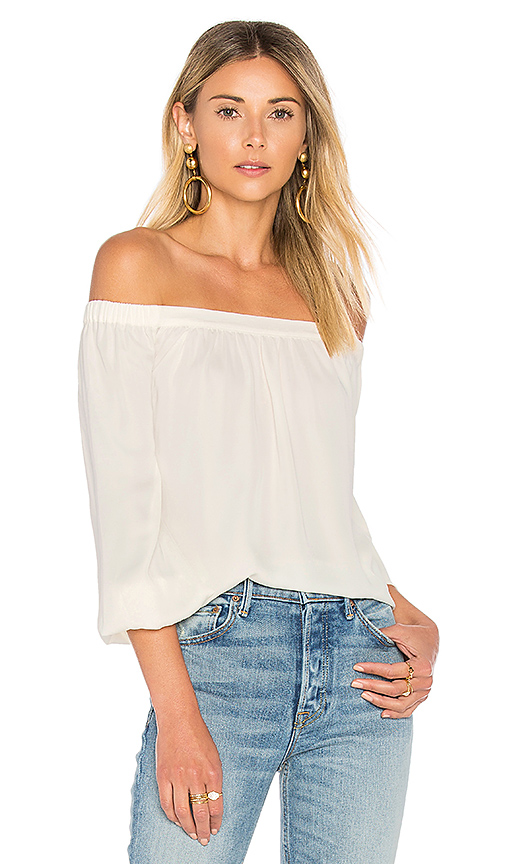 L'Academie The Elastic Off Shoulder in Ivory