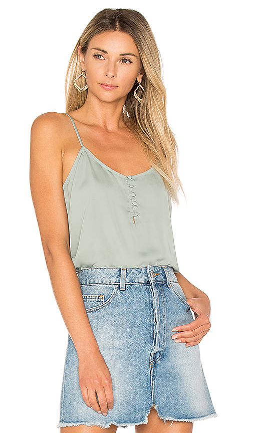 L'Academie The Button Cami in Sage