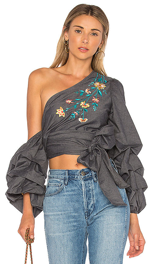 L'Academie x REVOLVE The City Top in Charcoal