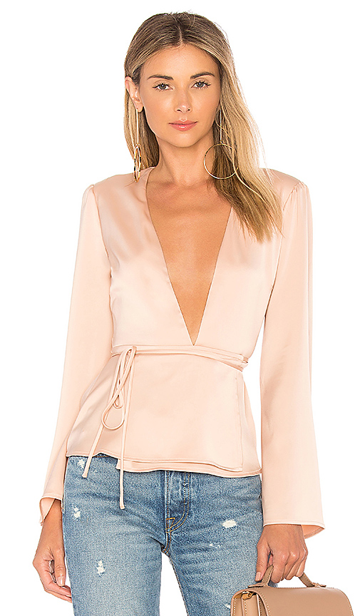 L'Academie The Eliot Blouse in Pink. - size L (also in XS,M,XL)