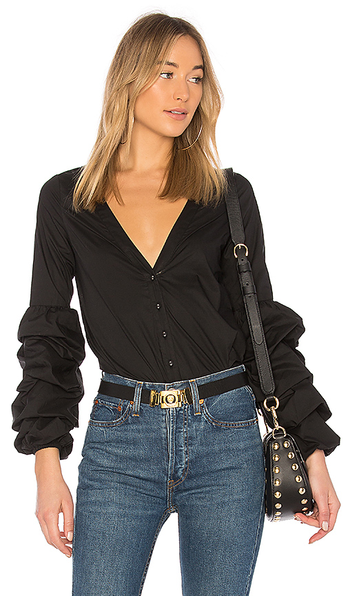 L'Academie Emma Blouse in Black