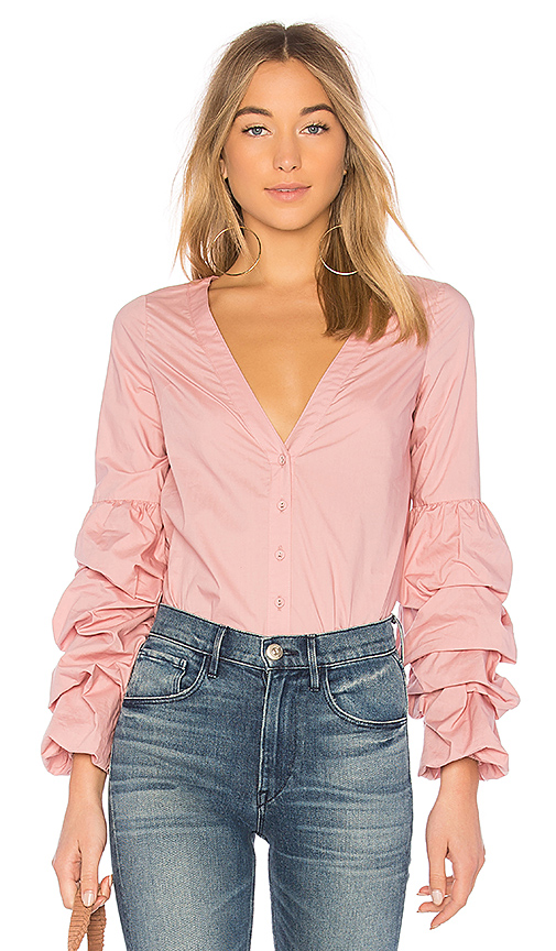 L'Academie Emma Blouse in Pink. - size XXS (also in L,M,S,XS)