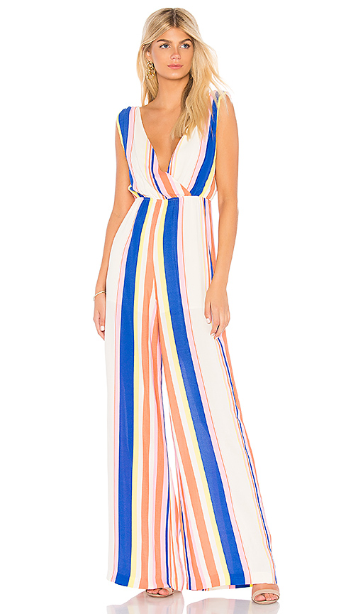 Line & Dot Rory Jumpsuit in Pink. - size XS also in S,M