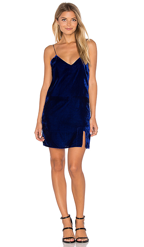 Line & Dot Natalie Slip Dress in Blue