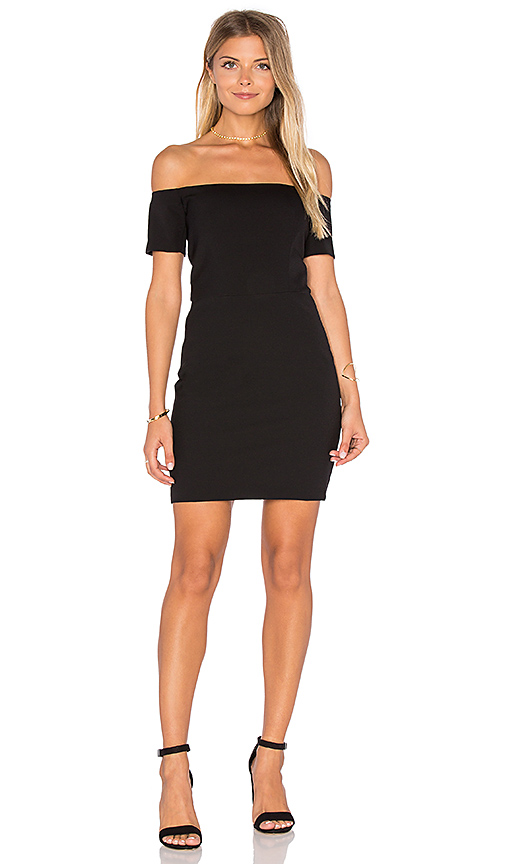 Line & Dot Cecil Off Shoulder Dress in Black. - size S also in XS