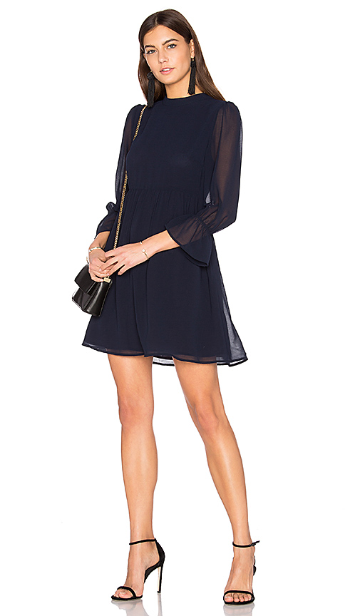 Line & Dot Renee Babydoll Dress in Navy