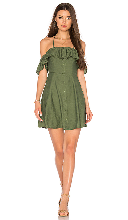Line & Dot Leon Dress in Olive. - size L also in M
