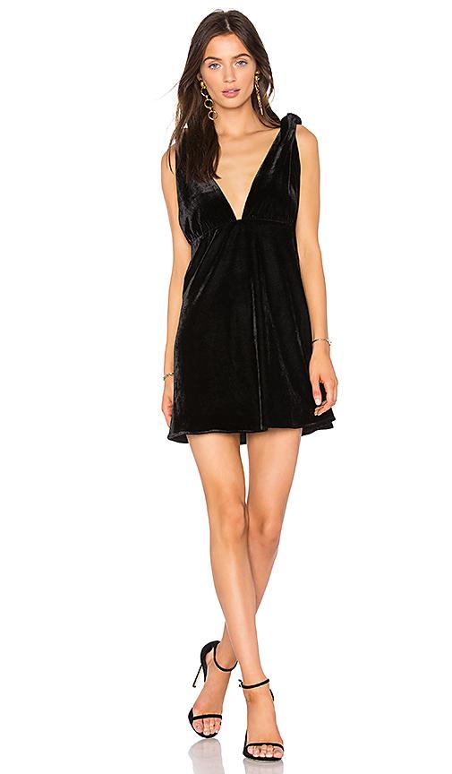 Line & Dot x REVOLVE Tied Mini Dress in Black. - size L also in S,XS