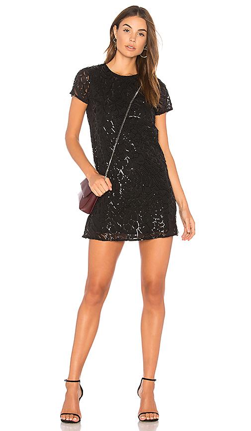 Line & Dot Charmant Mini Dress in Black