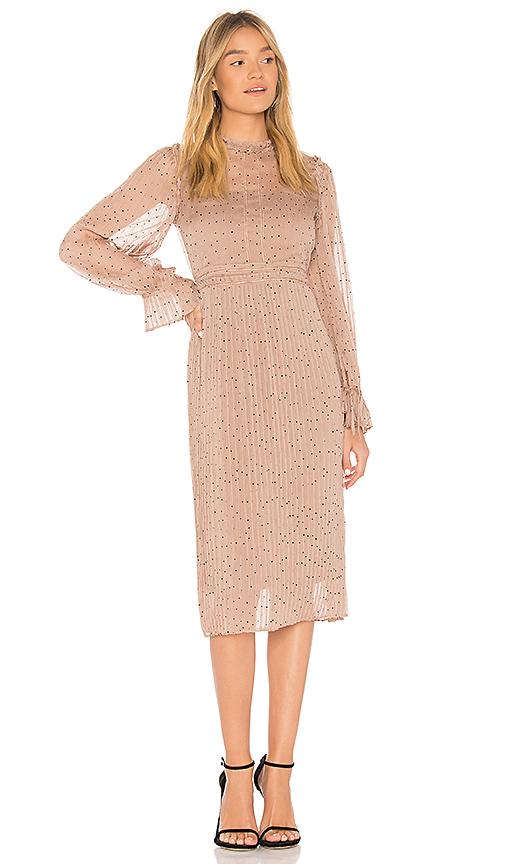 Line & Dot Allegra Dress in Tan. - size M also in L,S,XS