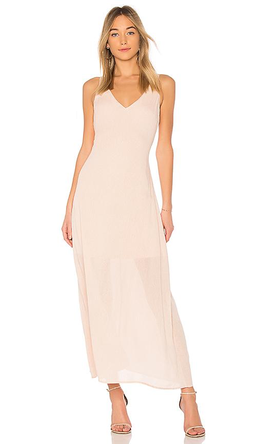 Line & Dot Inez Maxi Dress in Peach. - size L also in S,XS,M