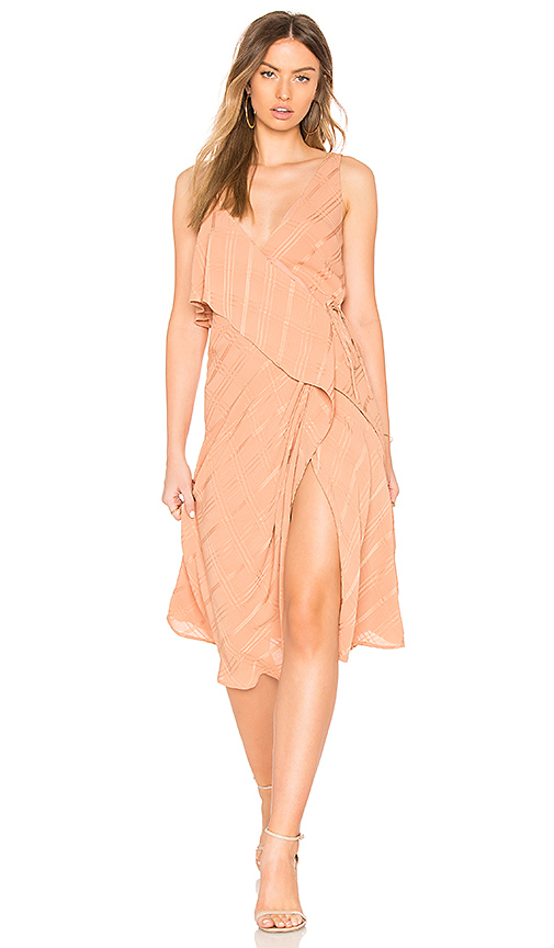 Line & Dot Yoanna Dress in Tan. - size L also in M,S,XS