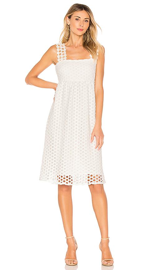 Line & Dot Ranael Dress in White. - size M also in L,S,XS