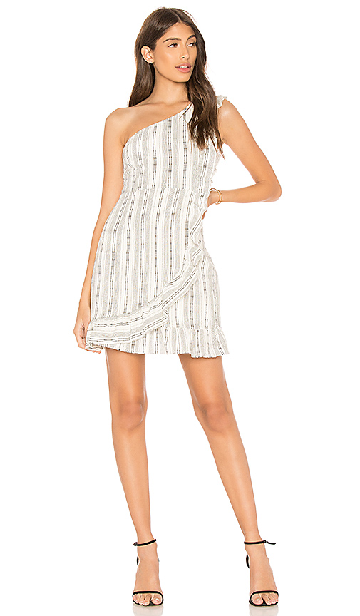 Line & Dot Edna One Shoulder Dress in White. - size S also in XS,M,L