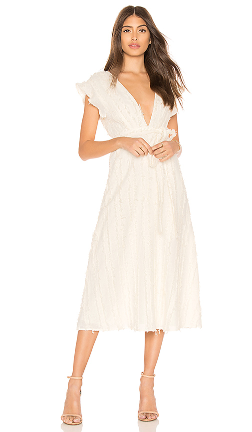Line & Dot Vendetta Belted Dress in Ivory. - size XS also in S,M,L