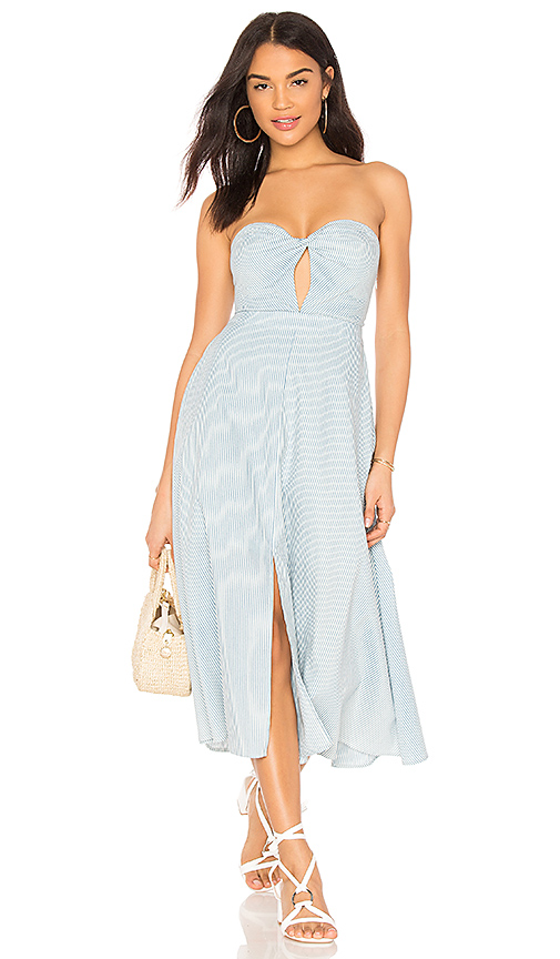 Line & Dot Habina Dress in Blue. - size M also in S,XS,L