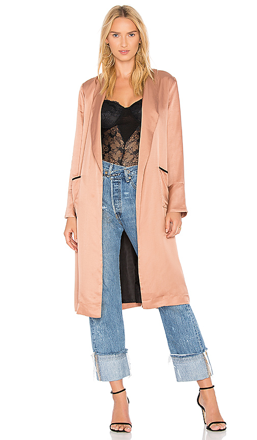Line & Dot Aida Coat in Blush. - size L also in XS,S,M