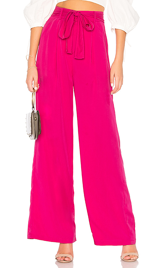 Line & Dot Cherie Pant in Fuchsia. - size L also in XS,S,M