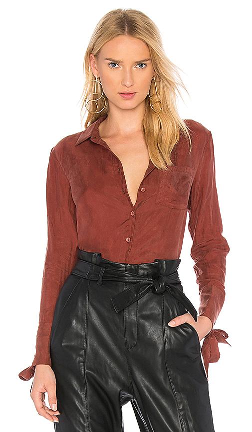 Line & Dot Rue Grommet Shirt In Rust in Rust