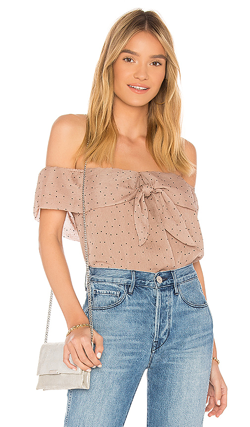 Line & Dot Allegra Top in Tan. - size M also in XS