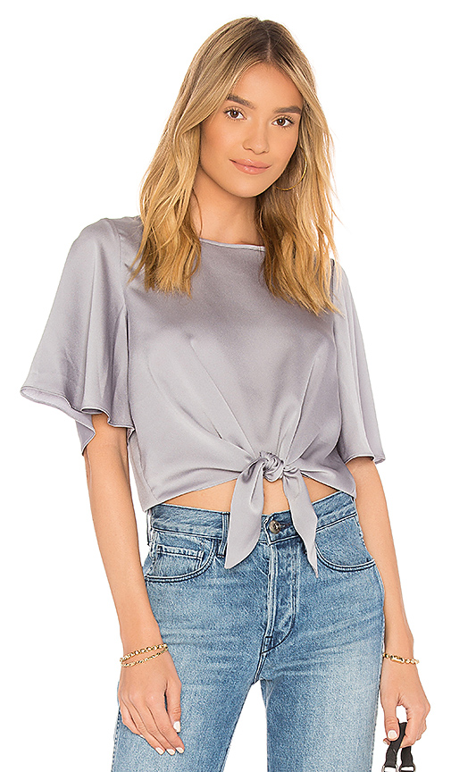 Line & Dot Pas Top in Gray