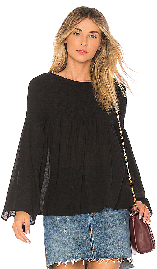 Line & Dot Dina Blouse in Black. - size L also in S,XS,M