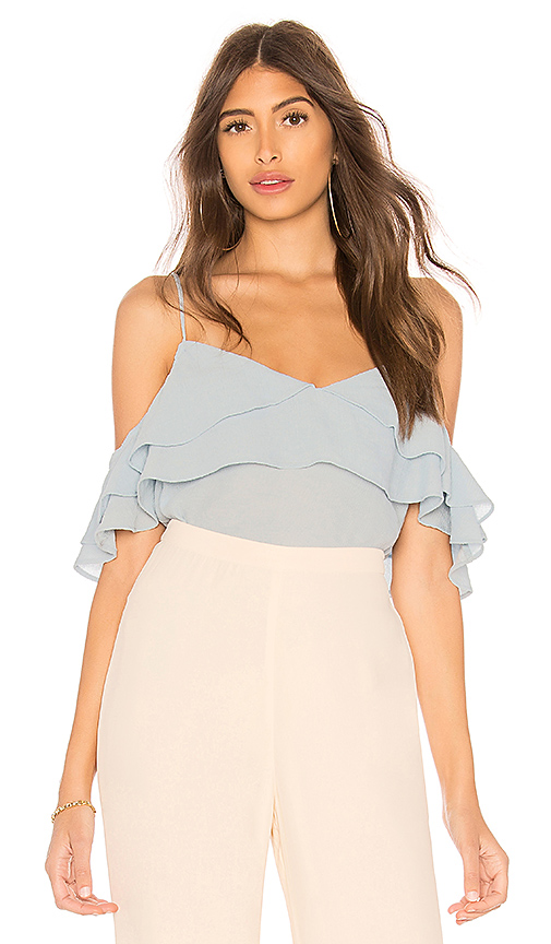Line & Dot Gemma Top in Baby Blue. - size XS also in S,M,L