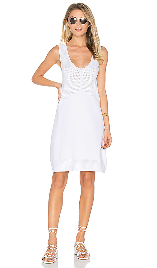 LEO & SAGE V Neck Tank Dress in White