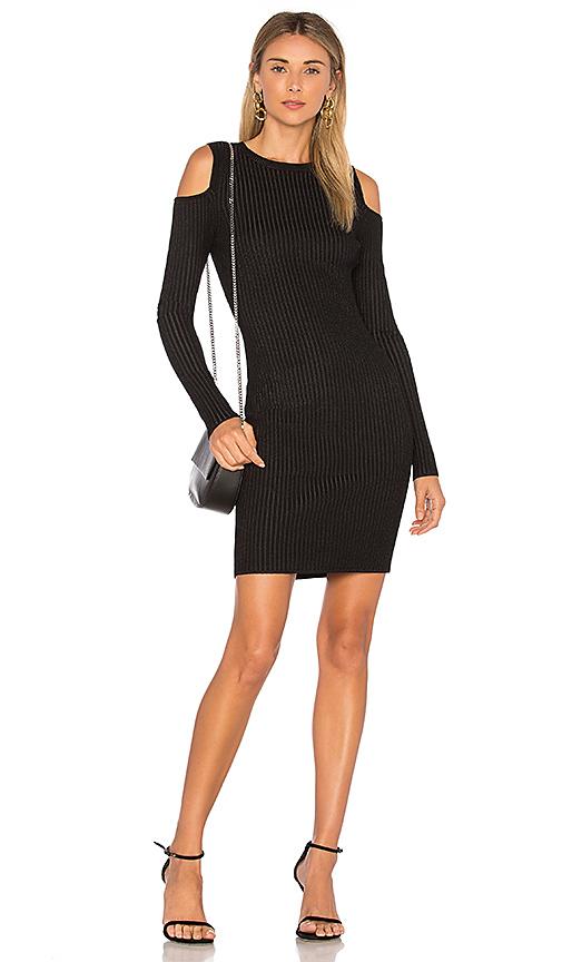 LEO & SAGE Cut Out Dress in Black