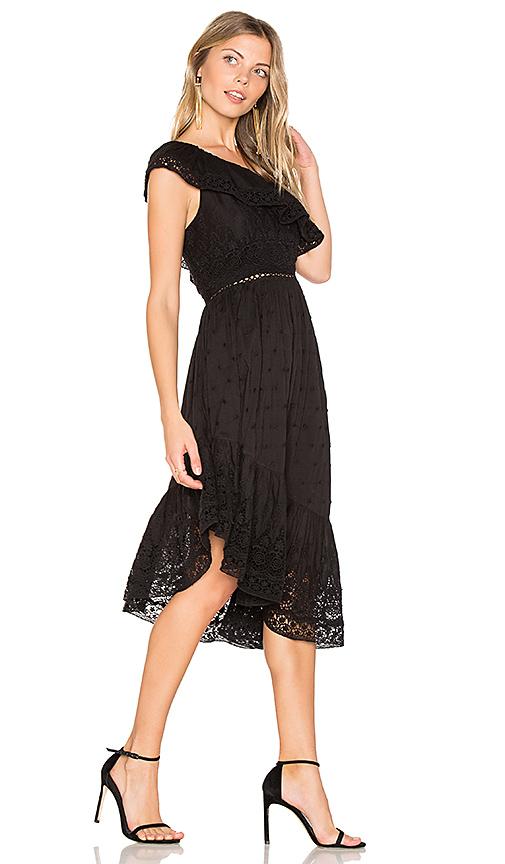 LoveShackFancy Pamela Dress in Black