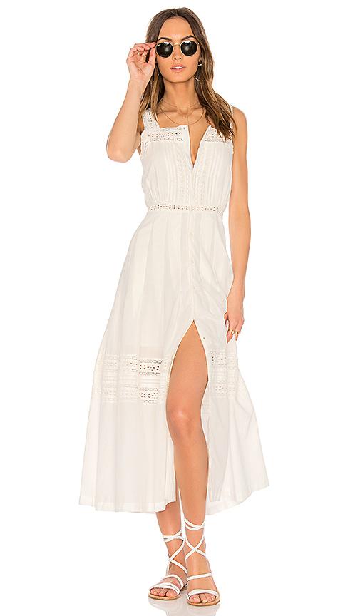 LoveShackFancy Eve Dress in White