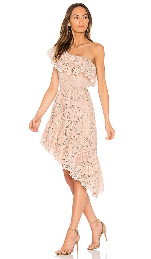 LoveShackFancy Pamela Party Dress in Pink