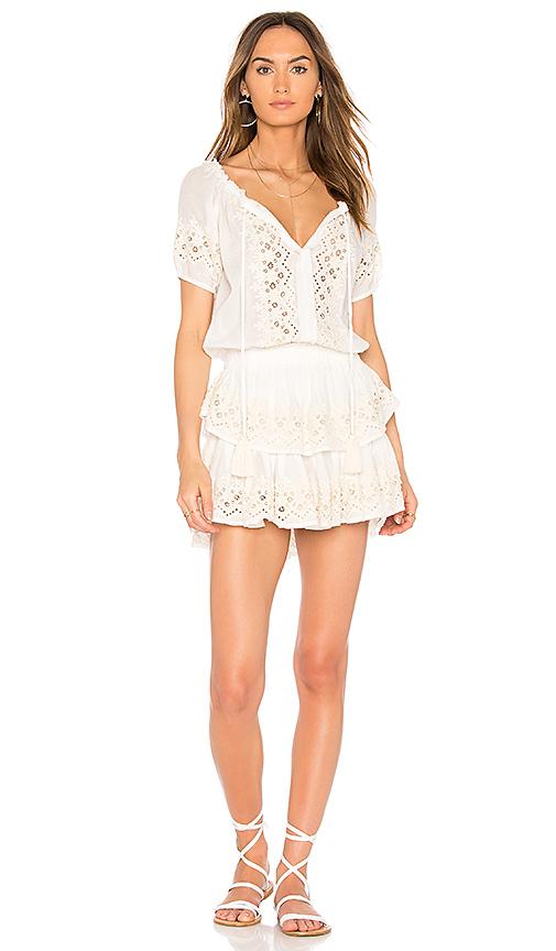 LoveShackFancy Poppy Dress in White