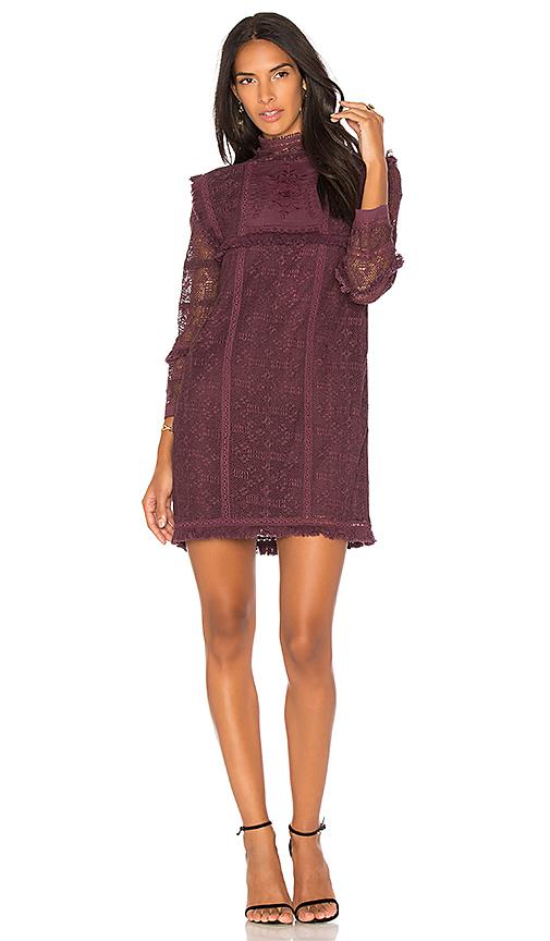 LoveShackFancy Gia Dress in Purple